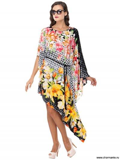 Купить Туника пляжная для женщин WT 061807 LG Lavernia, Charmante, мультиколор