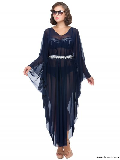 Купить Туника пляжная для женщин WT 031806 LG Velouette, Charmante, синий