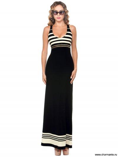 Купить Платье пляжное для женщин WQ 021807 LG Unity, Charmante, черный-слоновая кость