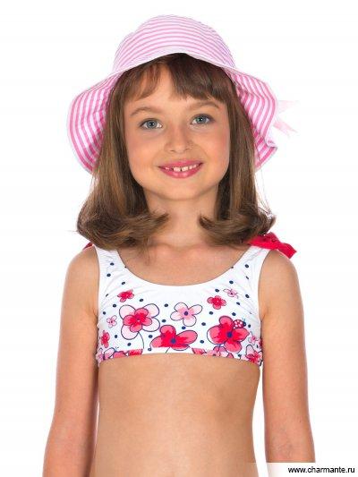 Купить Шляпа детская HGAT1838, Charmante, розовый/белый