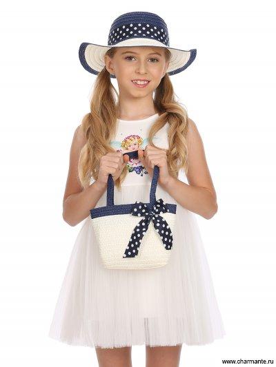 Купить Комплект Шляпа детская + сумка AKGS 1914, Charmante, синий