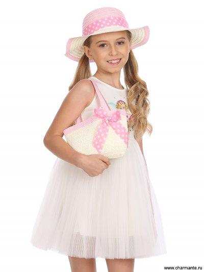 Купить Комплект Шляпа детская + сумка AKGS 1914, Charmante, светло-розовый